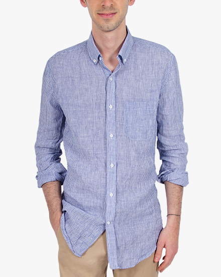 Blue Stripe Linen / 1189