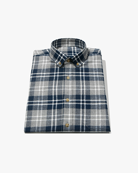 Navy-Grey Plaid / 1306