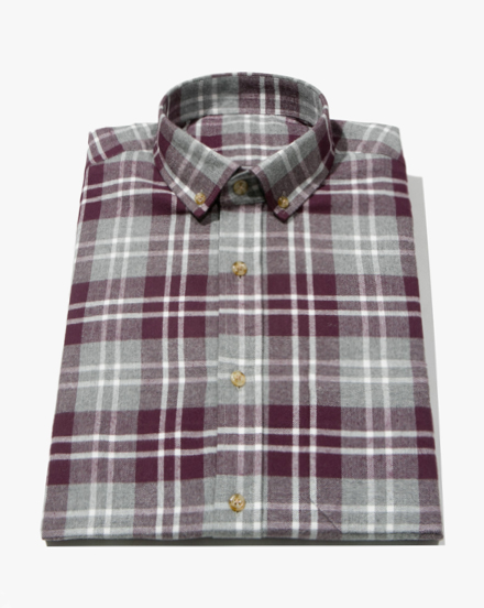 Burgundy Plaid / 1307