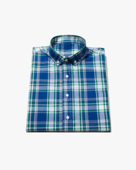 Blue Madras-Plaid / 1324