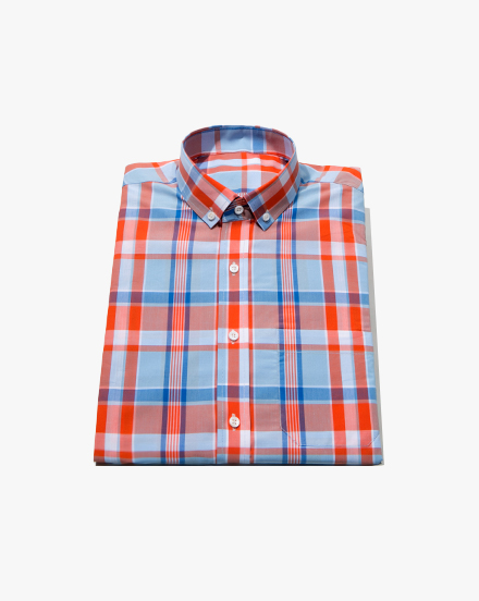 Orange Madras-Plaid / 1325