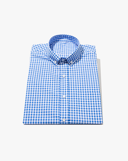 Mid-Blue Gingham / 1350