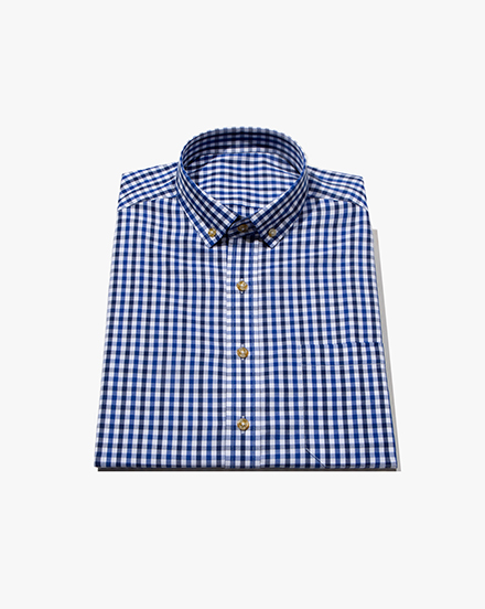 Blue Two-Tone Gingham / 1386