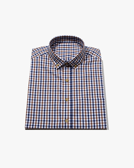 Brown Two-Tone Gingham / 1387