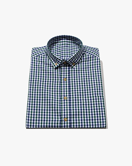 Green Two-Tone Gingham / 1388