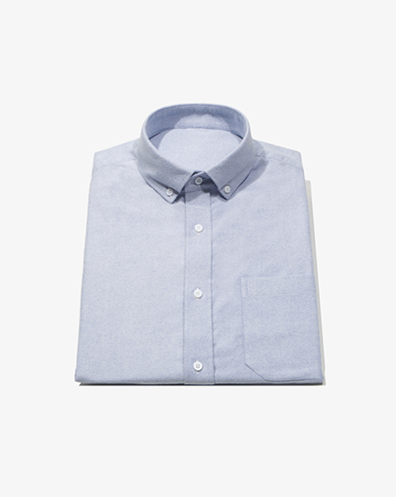 Blue Brushed Oxford / 1403