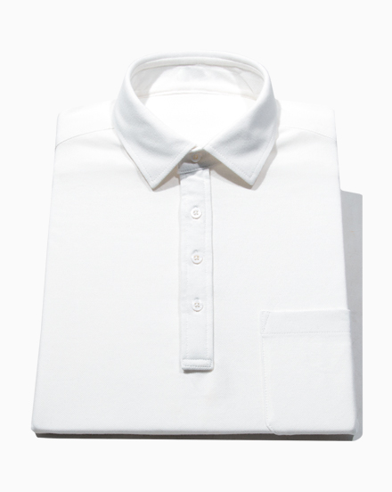 Solid White Polo / 1415