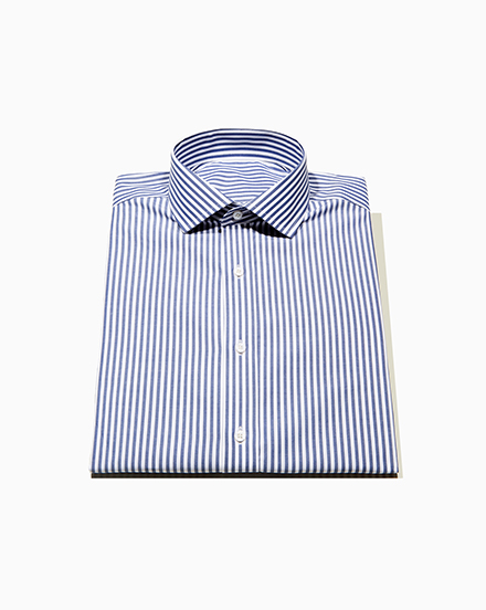Men's Blue Wide Stripe Dress Shirt / 1432