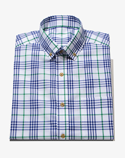 Navy Green Multi Check / 1438