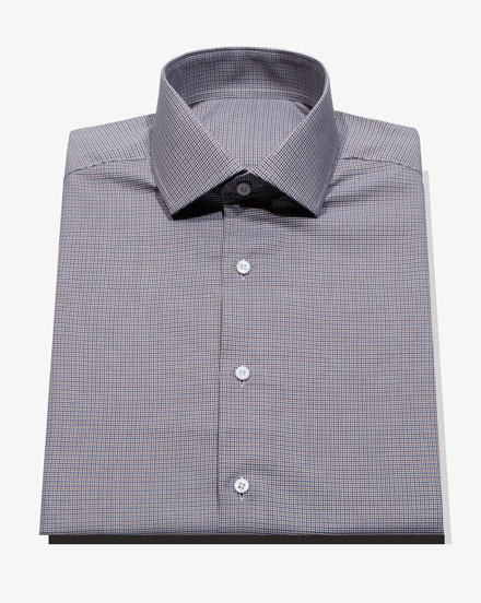 Navy Brown Houndstooth Check / 1463