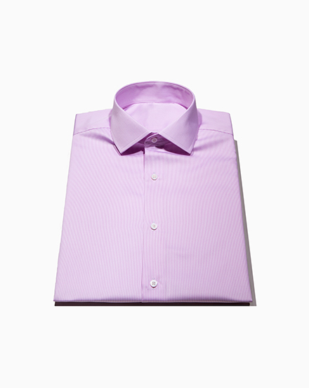Men's Pink Stripe Twill Dress Shirt / 1472
