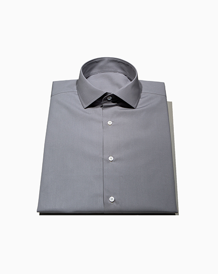 Men's Solid Grey Dress Shirt /1477