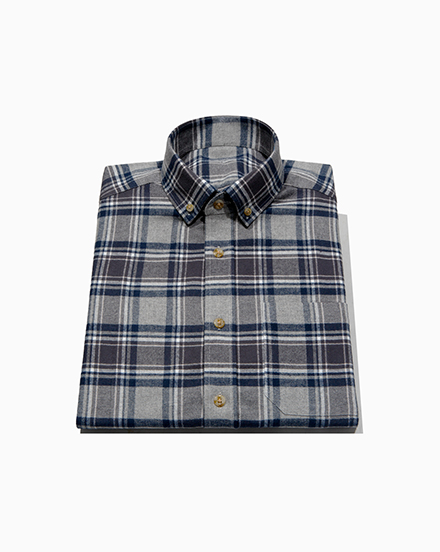 Blue Grey Plaid / 1478