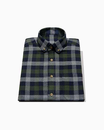Navy Green Plaid / 1479