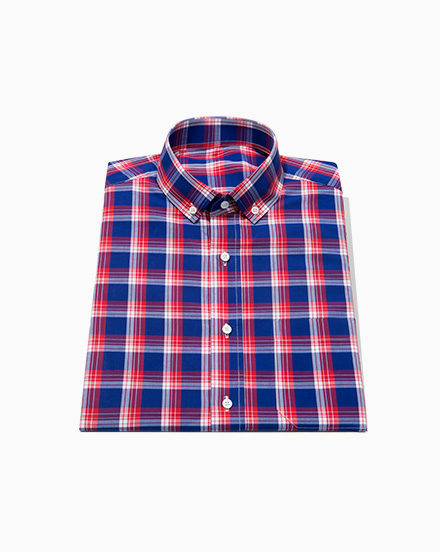 Red and Blue Plaid / 1526