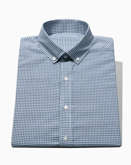 Steel Blue Brushed Gingham / 1637