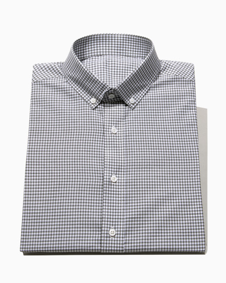 Grey Brushed Gingham / 1638
