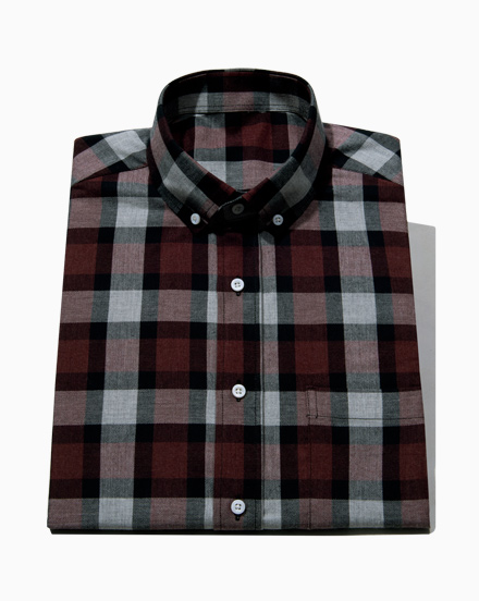 Red Herringbone Plaid / 1670