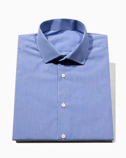Mid Blue Striped Check / 1690
