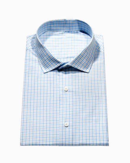 Blue & Black Simple Check / 1748