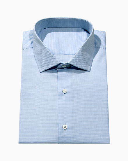 White & Blue Oxford / 5240