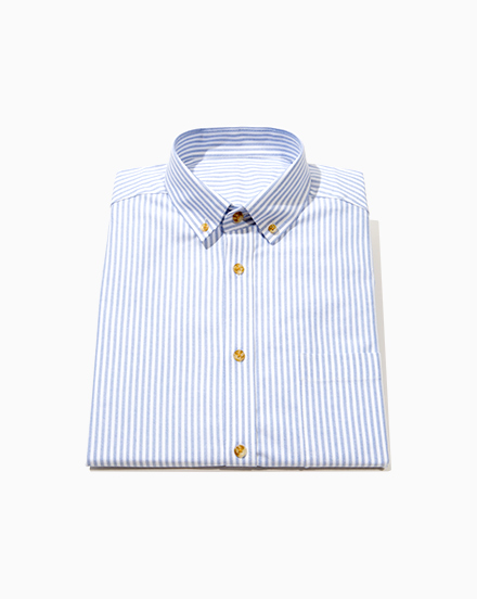 Blue Stripe Oxford / 844