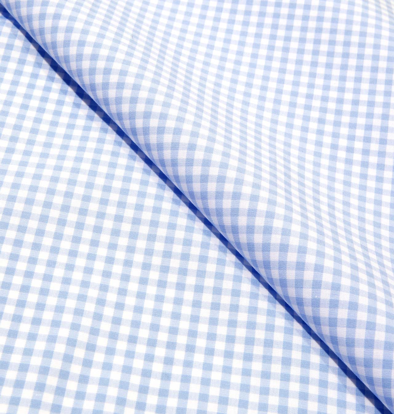Stretch Light Blue Check / 1589