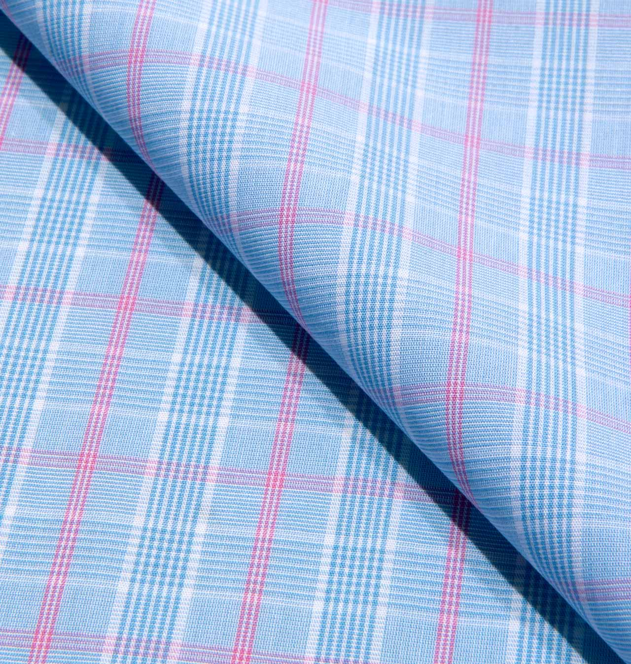 Blue & Pink Plaid / 1646