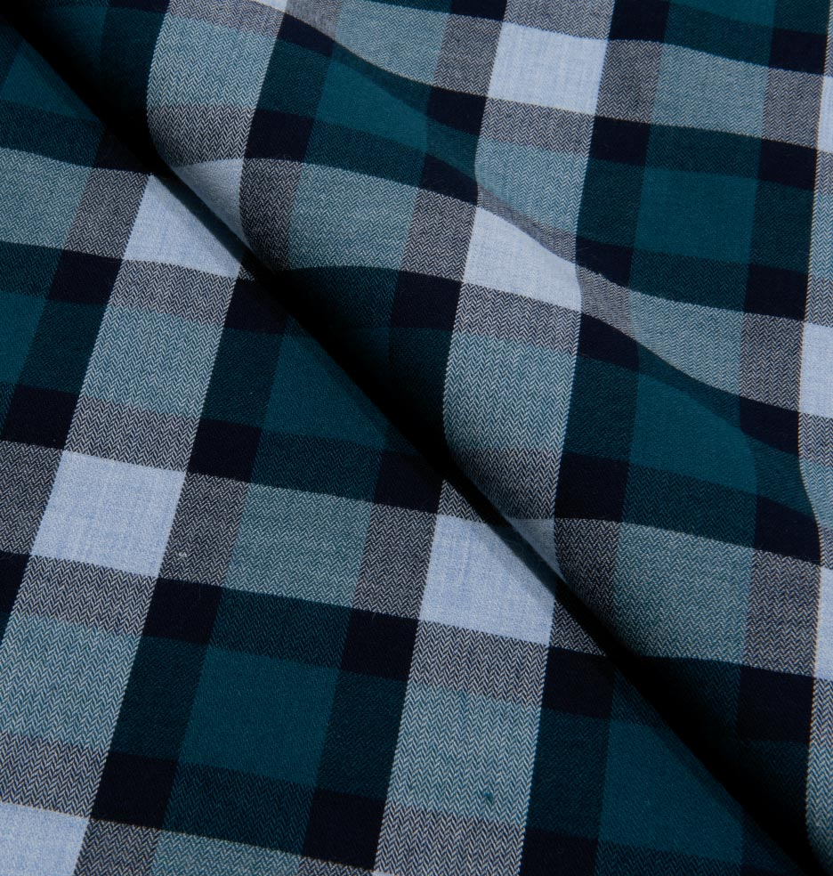 Teal Herringbone Plaid / 1671