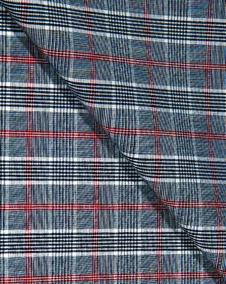 Red & Black Glen Plaid / 1711