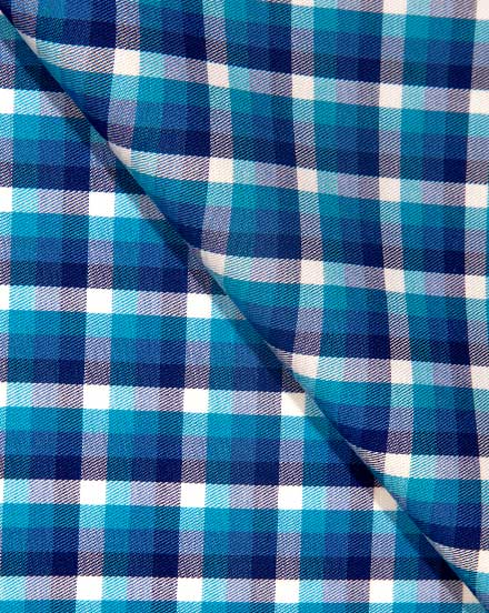 Blue & Teal Twill Check / 1753