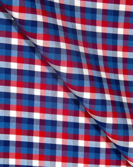 Red & Blue Twill Check / 1754