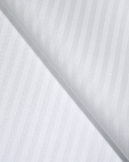 White Broad Woven Stripes / 5212