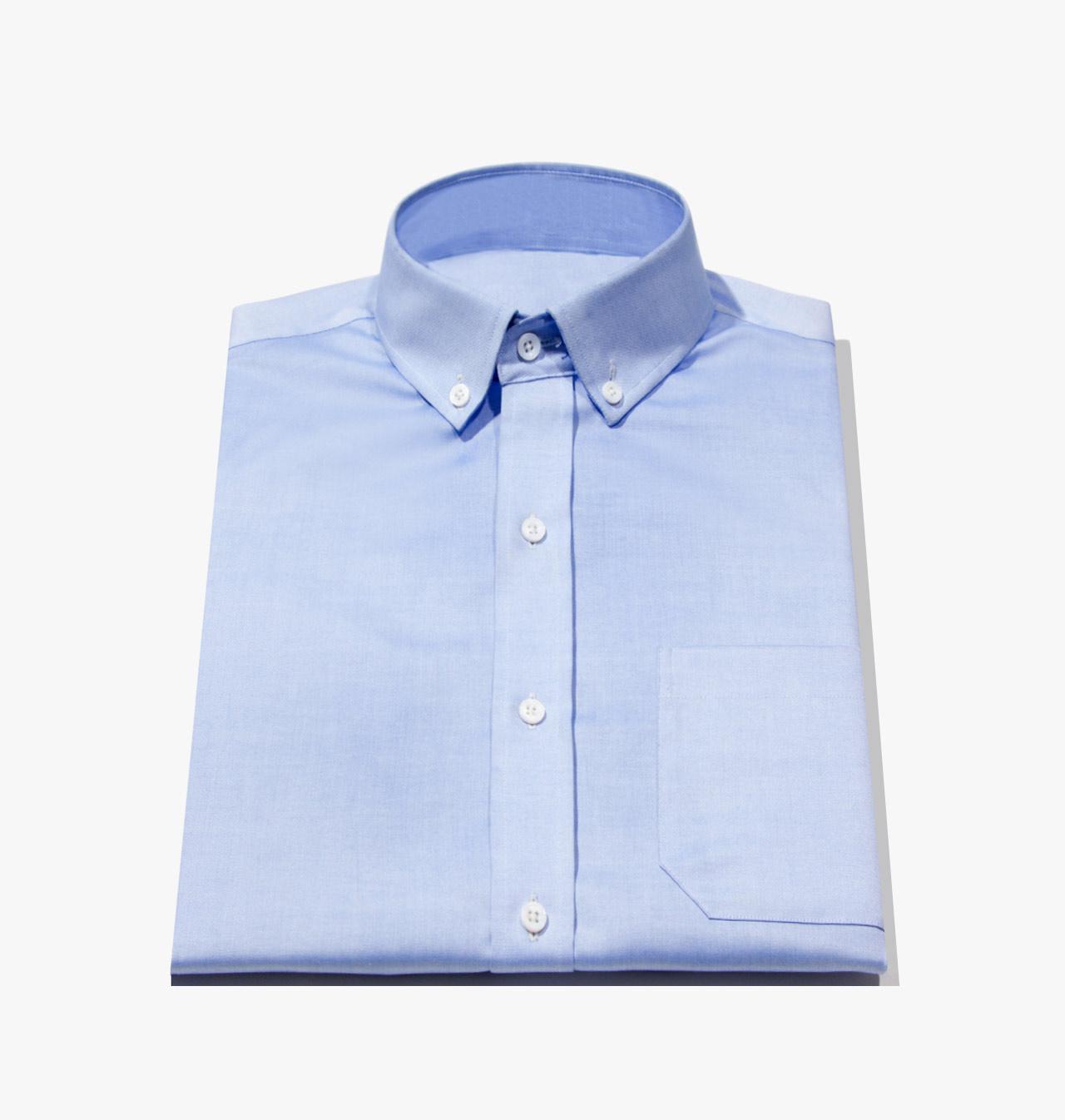 Mens Tailor Made Blue Lightweight Oxford Dress Shirt 1232