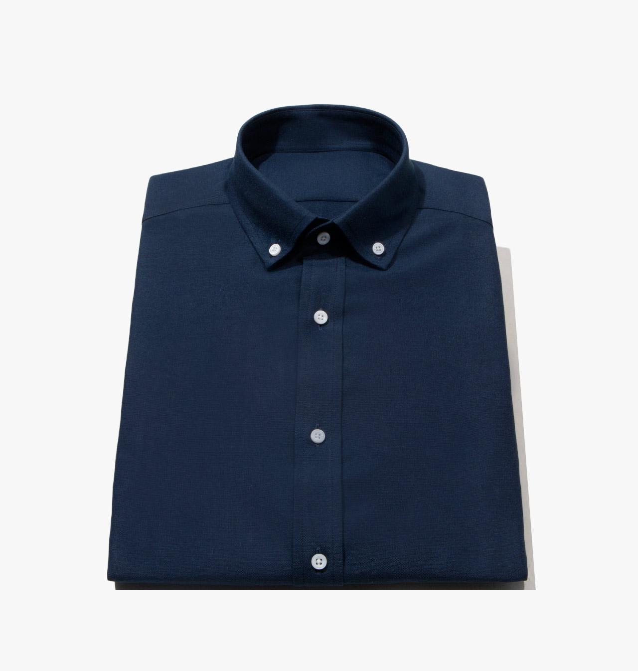 Mens Custom Made Navy Oxford Dress Shirt 1452