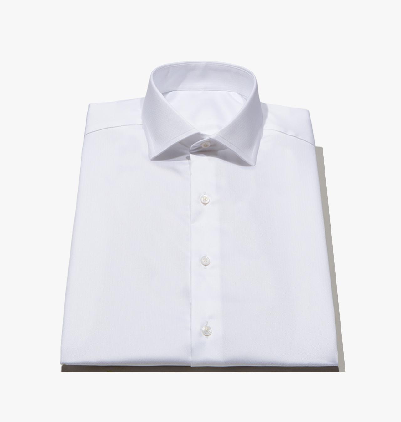 Men 39 s tailored white herringbone twill dress shirt 1140 for White herringbone dress shirt